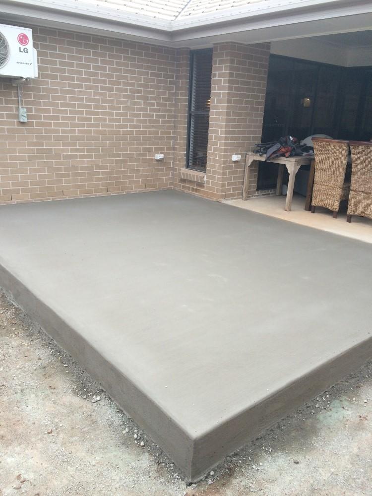 Plain Cement Concrete Pouring : Concrete alfresco slabs